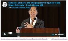 Video:  UCSF's Dr. Cindy Chang presents: Stingers, Burners, and Winging: Nerve Injuries of the Upper Extremity