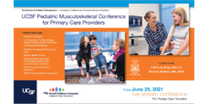 Register now for the UCSF Pediatric Musculoskeletal Conference for Primary Care Providers