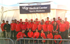 Volunteer for UCSF Sports Medicine Race Team, Fall 2017 events