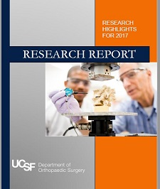 New:  UCSF Orthopaedic Surgery Research Report 2017
